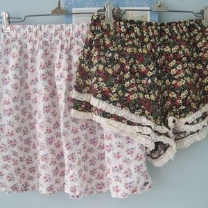 Hollister Floral Skirt & CUTE Forever 21 Shorts